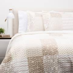 Textil Vina - Cubrecama Patch Sherpa Beige