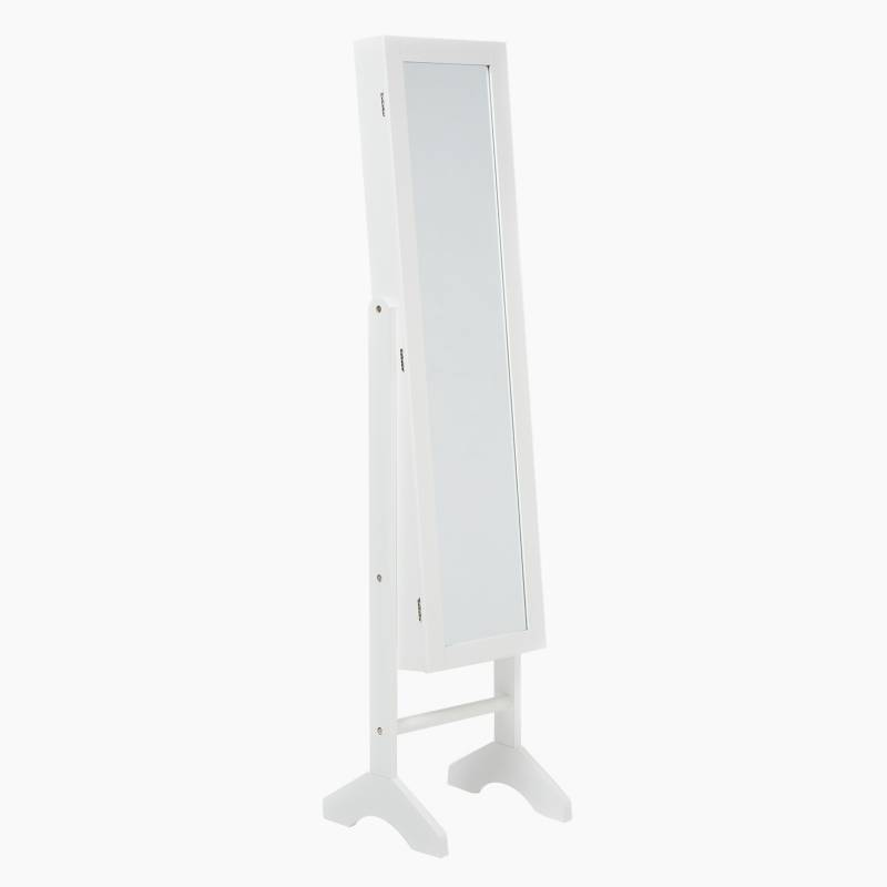 MICA - Espejo joyero madera 153 cm 38 cm