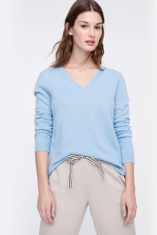 Basement - Sweater de Cashmere Manga Larga Mujer