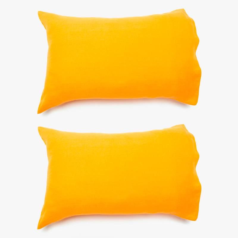 BASEMENT HOME - Set 2 Fundas de almohada 100% Lino