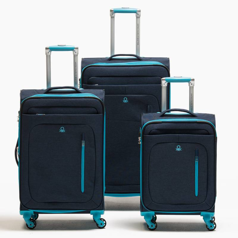 Benetton - Set Maletas Blanda Trio Azul