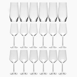 Schott Zwiesel - Set Copas y vasos cristal 18 Pzas (6 personas)