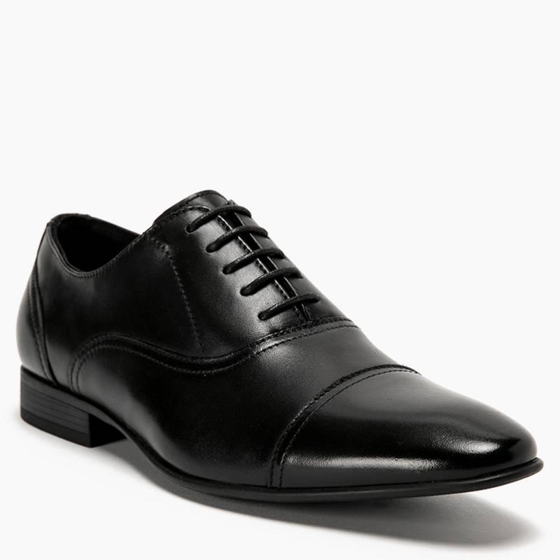 BASEMENT - Zapato Formal Hombre Cuero Negro