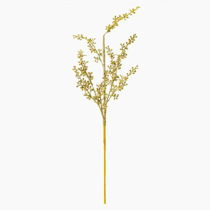 Mica - Rama/Flor Hojas 10 Dorado 58 cms