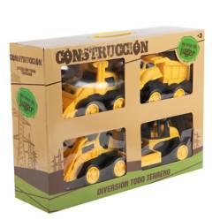 Set Construcción 4 Camiones