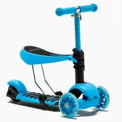Scoop - Scooter 2 en 1 Fluor Royal