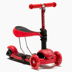Scoop - Scooter 2 en 1 Fluor Red