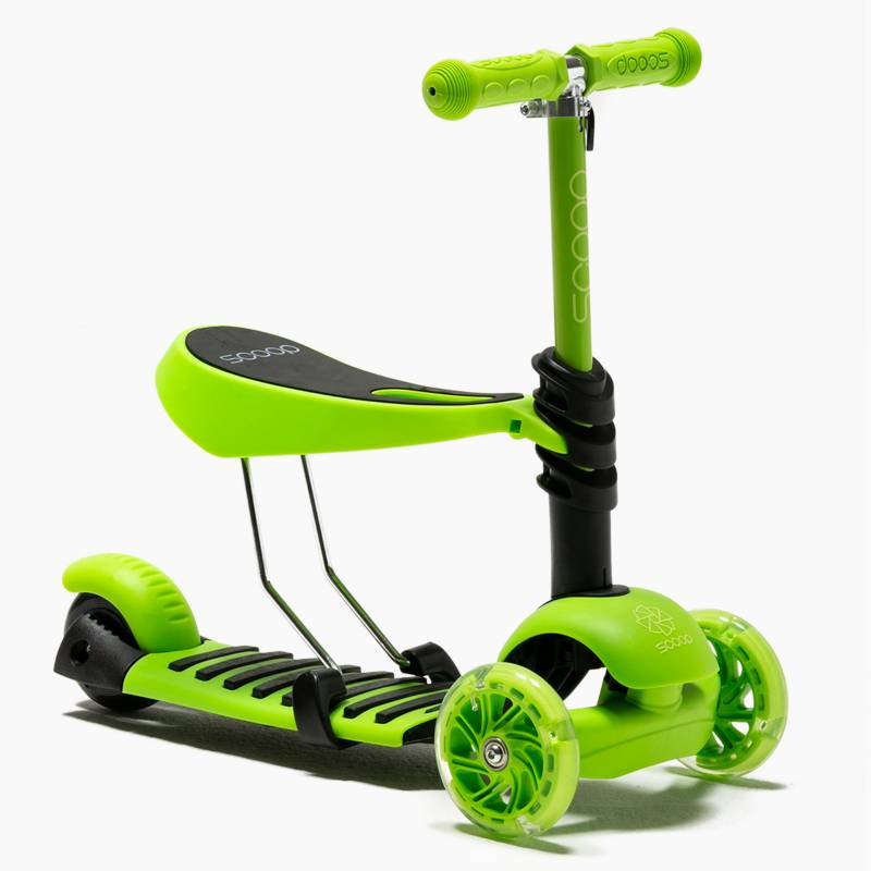 Scoop - Scooter 2 en 1 Fluor Green