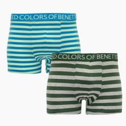 Benetton - Pack de 2 Boxer de Algodón Hombre