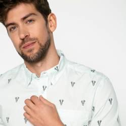 Basement - Camisa Casual Slim Fit