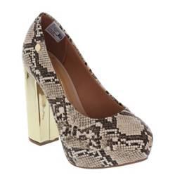 Zapato Mujer Taco Alto Beige