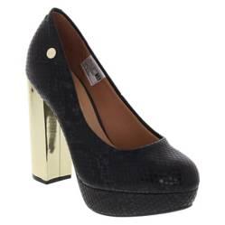 Zapato Mujer Taco Alto Negro
