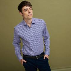BASEMENT - Camisa de Vestir Slim Fit Hombre