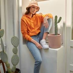 SYBILLA - Jeans Mom Tiro Alto Mujer