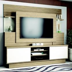 Home TV Aron Wood Off White/Nogal