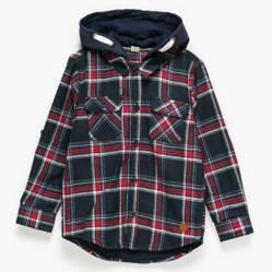 Yamp - Camisa franela forrada con capucha