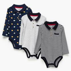 Yamp - Pack 3 bodies algodón bebé