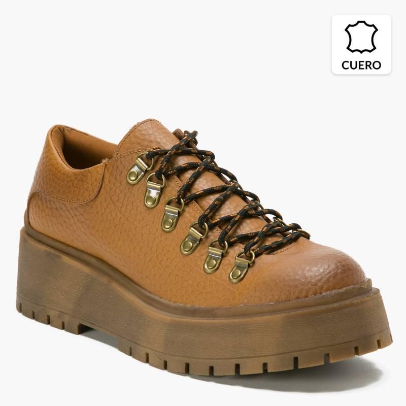 Americanino - Zapato Casual Mujer Cuero Café