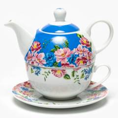 Roberta Allen - Tea For One Flores Azul 15x14.5 cm