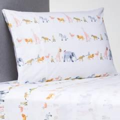 Mica Kids - Juego de sábanas infantil 100% Algodón Safari
