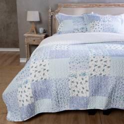 Textil Vina - Cubrecamas Patch Sherpa Azul