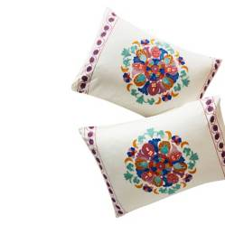 ANTHROPOLOGIE HOME - Set 2 Fundas Multicolor Aricota