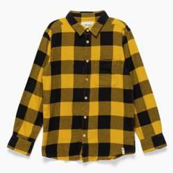 Federation - Camisa manga larga niño algodón cuadros grandes