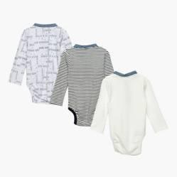 Yamp - Pack 3 bodies algodón bebé niño