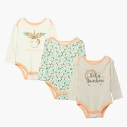 Yamp - Body pack 3 unidades algodón bebé niña
