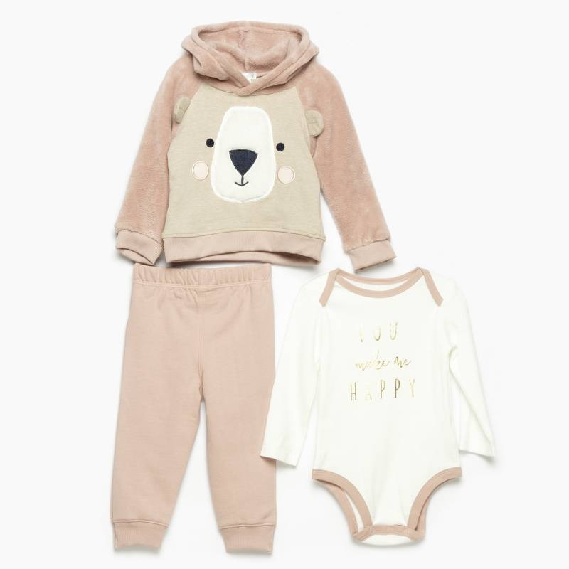 Yamp - Set buzo, body y polerón bebé niña