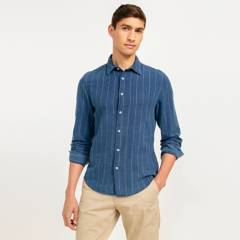 Basement - Camisa Denim Manga Larga Hombre
