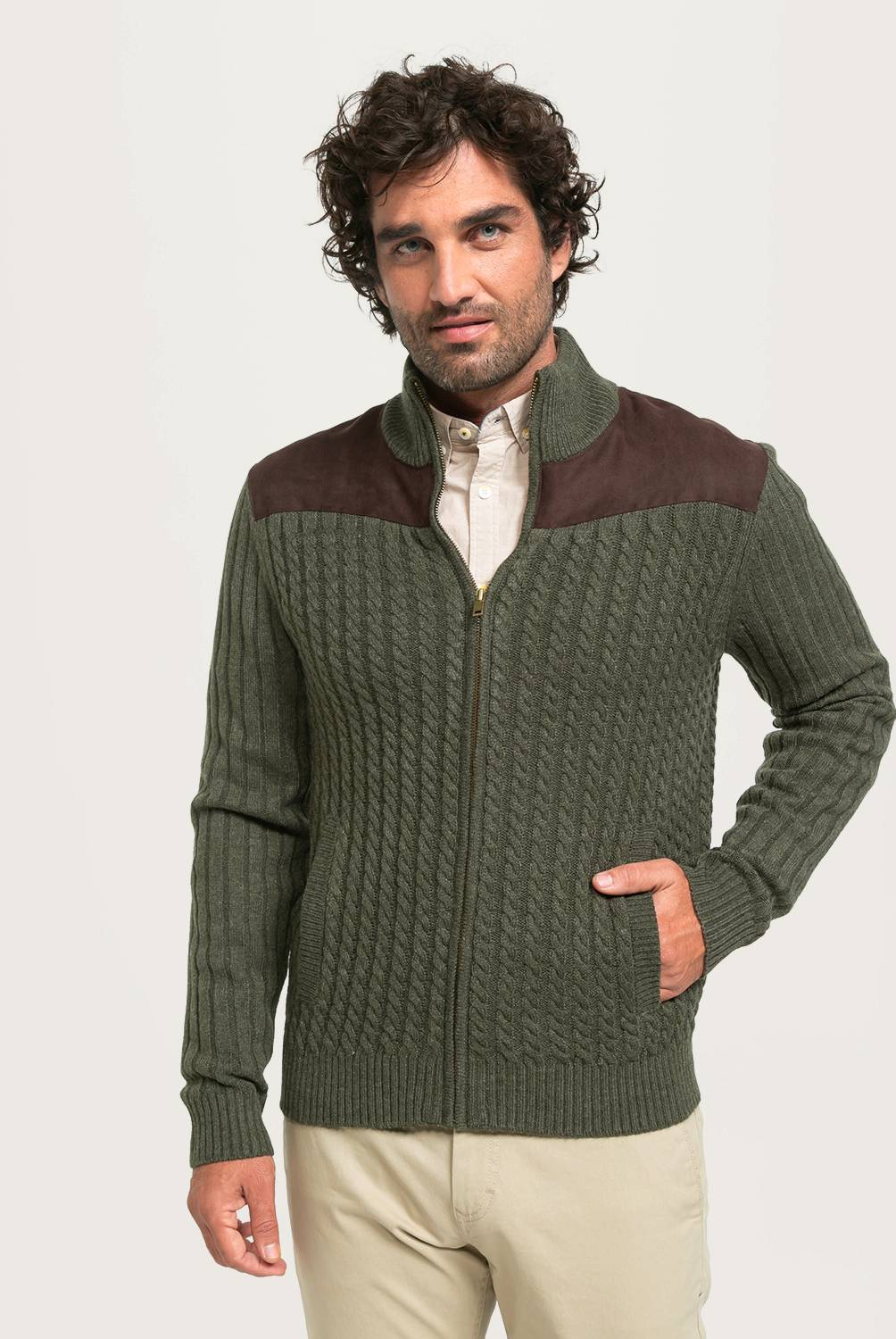 NEWPORT - Sweater Full Zipper Hombre