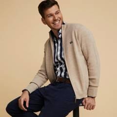 LA MARTINA - Sweater Full Zipper Hombre