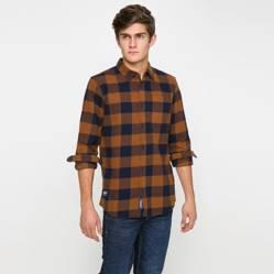Bearcliff - Camisa Manga Larga Franela Check