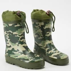 Yamp - Bota de Lluvia Niño Verde Camo Bo Rain3 Ve