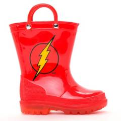 Warner Bros - Bota De Agua Niño Luces Flash Roja