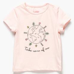 Yamp - Polera algodón reciclado bebé niña
