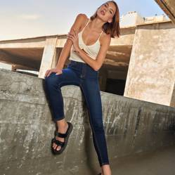 Americanino - Jeans de Algodón Skinny Mujer