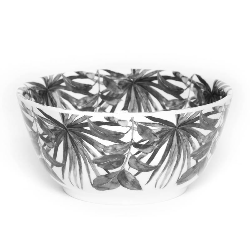 BASEMENT HOME - Bowl de Melamina Hojas Negras 15 cm
