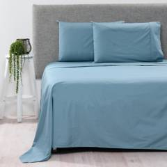 BASEMENT HOME - Juego de sábanas 100% Algodón 200 Hilos