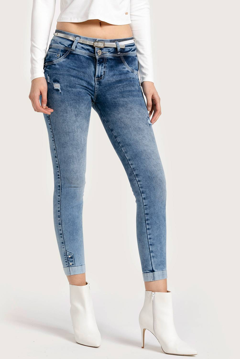 Mossimo - Jeans Skinny Push Up Mujer