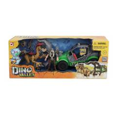 DINO VALLEY - Set Dinosaurio Con Vehiculo