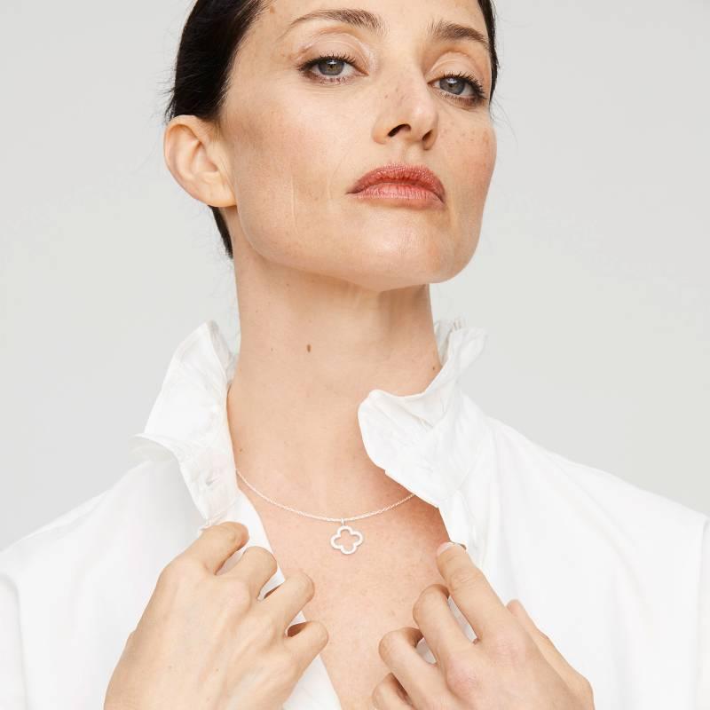 CECILIA BOLOCCO - Collar Plata 925 bañado en Rodio con cristales