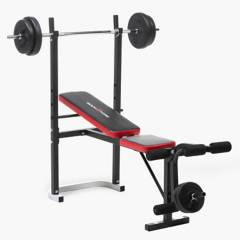 Bodytone - Press Banca con Barra y pesas 30 Kg