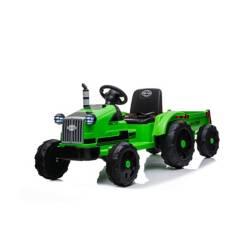 Scoop - Tractor con acoplado a bateria verde 12V