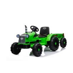 Scoop - Tractor con acoplado a bateria verde