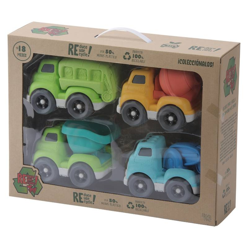 RETOY - Pack 4 Camiones Medianos