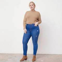 ELLE - Jeans Skinny Tiro Medio Mujer