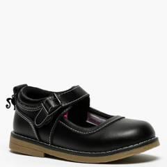 BARBIE - Calzado Escolar Niña Cuero Negro