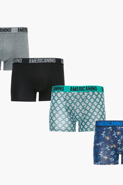 AMERICANINO - Pack 4 Boxers Algodón Hombre